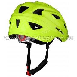 Вело Шлем детский INDIGO IN073 16 вент. отверстий Салатовый (2)