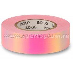 Обмотка для обруча с подкладкой INDIGO зеркальная RAINBOW Розово-фиолетовый (1)