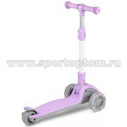 IN244 Самокат детский INDIGO FAST трехколесный до 50 кг Фиолетовый (2)