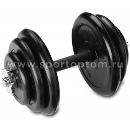 Гантель наборная обрезиненные диски INDIGO IN141 16.5 кг Черный
