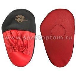 Лапа боксерская прямая большая RSC COMBAT и/к RSC009 34*19*4 см Красно-черный