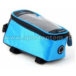 Вело Сумка на раму с отделением для телефона  FB-07-2 L 195*100*100мм Синий