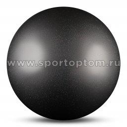 Мяч для художественной гимнастики силикон Металлик 300 г AB2803B 15 см Серебро с блестками