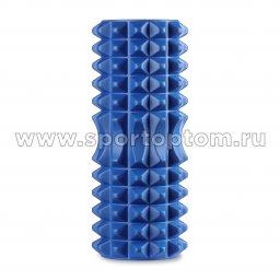 Ролик массажный для йоги INDIGO PVC IN267 синий (2)
