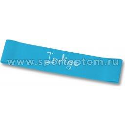 Эспандер Лента латекс замкнутая INDIGO HEAVY (7-12 кг) 6004-3 HKRB 46*5*0.09 см Бирюзовый