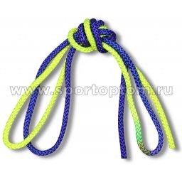 Скакалка для художественной гимнастики двухцветная 130 г AB254 3 м Желто-Синий