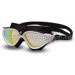 Очки для плавания (полумаска) INDIGO GRASSHOPPER зеркальные S991M Черно-белый