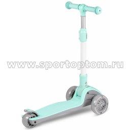 IN244 Самокат детский INDIGO FAST трехколесный до 50 кг Бирюзовый (2)