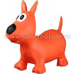 Игрушка надувная мяч-попрыгун INDIGO Собачка с насосом  А-13 64*28*52 см Оранжевый