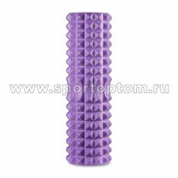 Ролик массажный для йоги INDIGO PVC IN268 филолетовый (2)