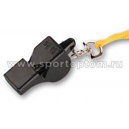 Свисток пластиковый с металлической вставкой Батерфляй на шнурке блистер 7009 А-2