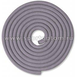 Скакалка для художественной гимнастики Утяжеленная 180 г INDIGO SM-123 3 м Жемчужный