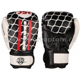 Перчатки боксёрские RSC MATURE PU DX  SB-16-1601 6 унций Черно-бело-красный