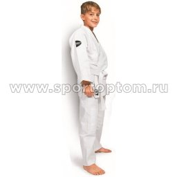 Кимоно  дзюдо Green Hill JUNIOR хлопок куртка 350г/м2,брюки 180г/м2  JSJ-10226 4/170 Белый
