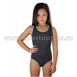 Купальник для плавания  SHEPA слитный детский 001 Серый