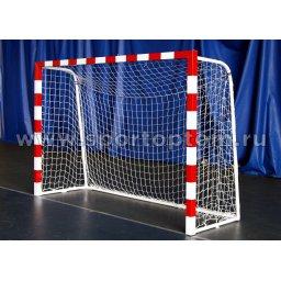 Сетка футбольная (мини футбол, гандбол) 2,8мм  3*2*1м Белый
