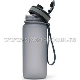 Бутылка для воды с сеточкой и мерной шкалой UZSPACE 650мл тритан 3030 Серый матовый (3)