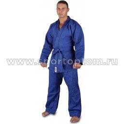 Кимоно дзюдо хлопок куртка 600-650г/м2,брюки 280-320г/м2  RA-002 Синий