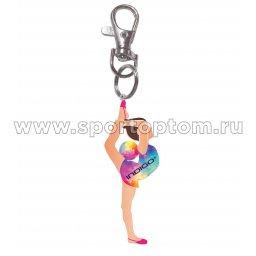 Сувенир брелок девочка с мячом INDIGO SM-396 7 см Мультицвет