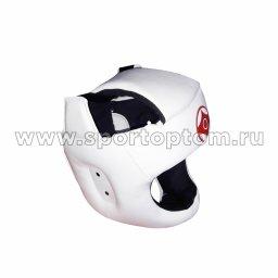 Шлем карате тренировочный LEOSPORT и/к  LR-03 Белый