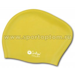 Шапочка для плавания силиконовая  длинные волосы INDIGO 806 SC Желтый