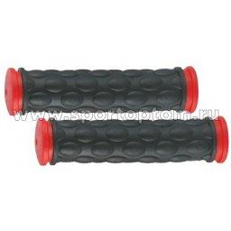 Вело Ручки резиновые TRIX  61G-HL TPR                11 см Черно-красный