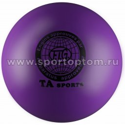 Мяч для художественной гимнастики металлик 400 г I-2 19 см Фиолетовый