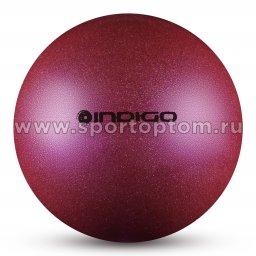 Мяч для художественной гимнастики INDIGO металлик 400 г IN118 19 см Фиолетовый с блестками