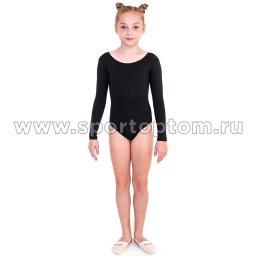 Купальник гимнастический  длинный  рукав  INDIGO SM-094 Черный (1)