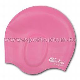 Шапочка для плавания силиконовая INDIGO анатомическя форма 405 SC Розовый