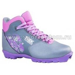 Ботинки лыжные NNN TREK Freez1 синтетика TR-255 Металлик (лого сиреневый)