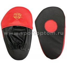 Лапа боксерская прямая большая RSC COMBAT и/к RSC009 34*19*4 см Черно-красный