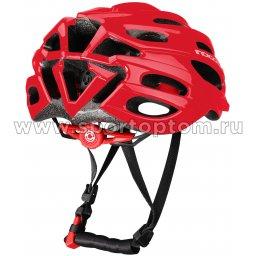 Велошлем взрослый INDIGO, 22 вент. отверстий IN070 красный (2)