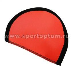 Шапочка для плавания  ткань LUCRA SM комбинированная SM-089 Черно-красный
