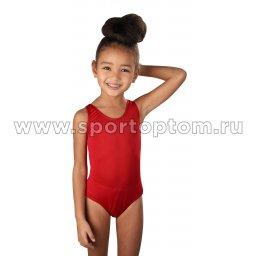 Купальник для плавания детский слитный однотонный 4900