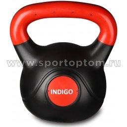 Гиря пластиковая INDIGO IN041 Черно-красный 6 кг (2)
