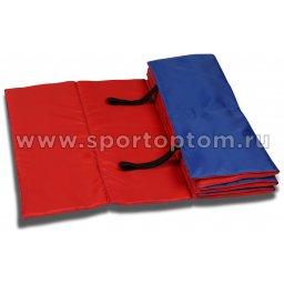 Коврик гимнастический взрослый INDIGO SM-042 180*60 см Сине-красный