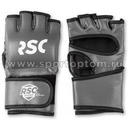 Перчатки ММА RSC PU  SB-03-330 S Серо-черный