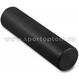 Ролик массажный для йоги INDIGO Foam roll  IN022 15*60 см Черный