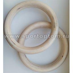 Кольца гимнастические Кроссфит деревянные INDIGO  IN243 24 см