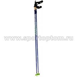 Палки лыжные SPINE Carrera Carbon  10016 Сине-зеленый
