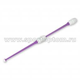 Булавы для художественной гимнастики вставляющиеся INDIGO Фиолетово-белый (2)