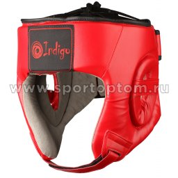 Шлем боксерский тренировочный INDIGO PU   PS-827 Красный