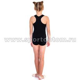 Шорты гимнастические  детские  INDIGO c окантовкой SM-196 Черный (2)