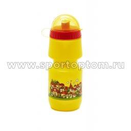 Вело Фляга детская с защитой от пыли  Город VSB 04 500 мл Желтый
