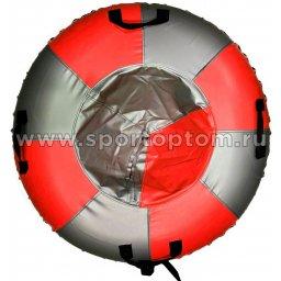 Санки Ватрушка Мега (армированный тент 600 ) SM-245 105 см Металлик-красный