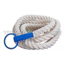 Канат для лазания  диаметр 30мм (хлопок) AN-06-5,0 5,0 м Белый