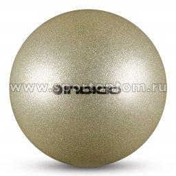 Мяч для художественной гимнастики INDIGO металлик 400 г IN118 19 см Серебро с блестками