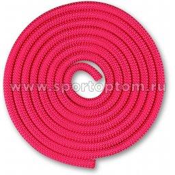 Скакалка для художественной гимнастики Утяжеленная 150 г INDIGO SM-121 2,5 м Фуксия