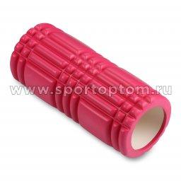 Ролик массажный для йоги INDIGO PVC  IN233 33*14 см Цикламеновый